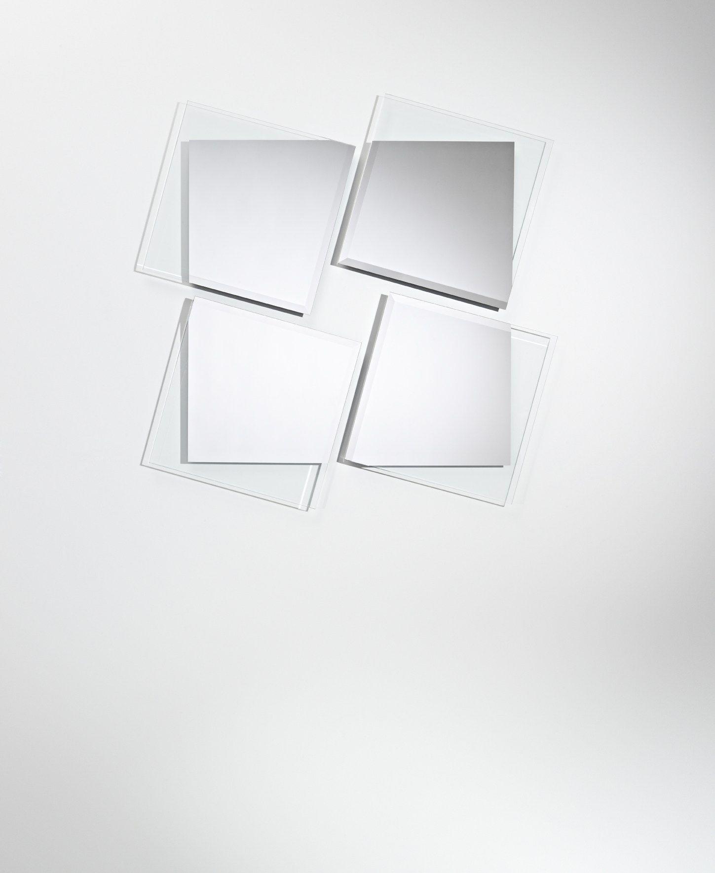 Miroir rectangulaire mural de style contemporain eclat for Miroir eclat