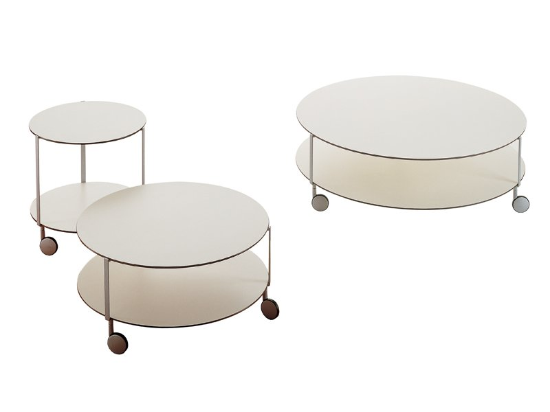 Round Coffee Table With Casters Gir By Zanotta Design Anna Deplano