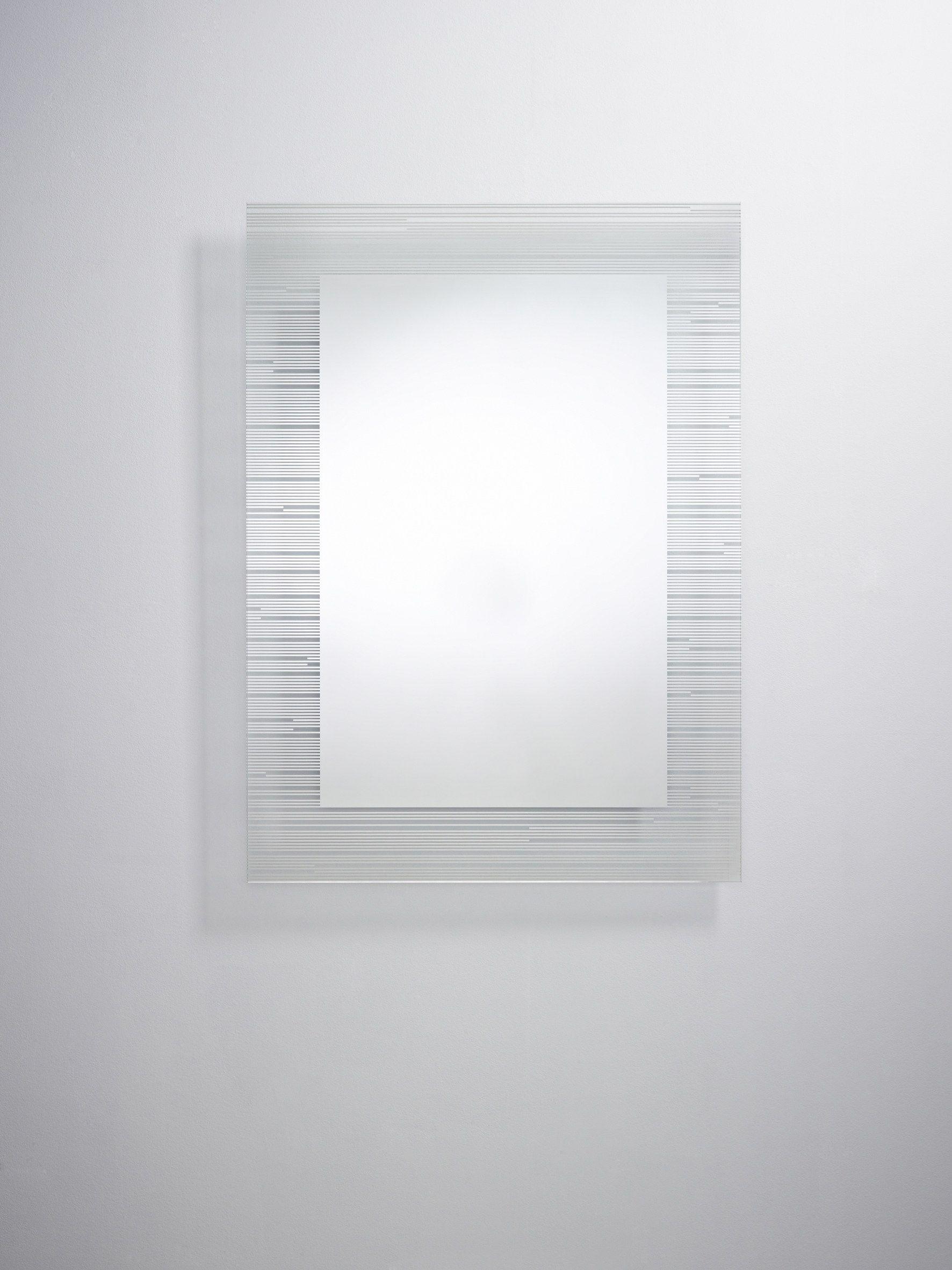 Sonar miroir de style contemporain pour salle de bain by for Colle pour miroir mural