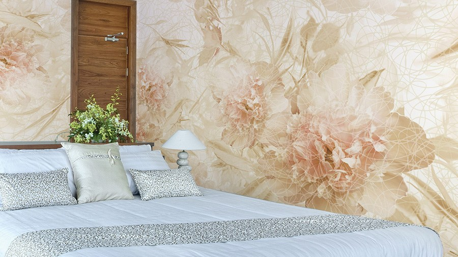 Vinyl Wallpaper With Floral Pattern Allure By Glamora