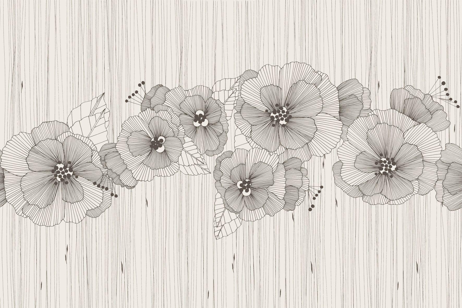 Papel pintado de vinilo de flores manhattan by glamora - Papel de vinilo ...