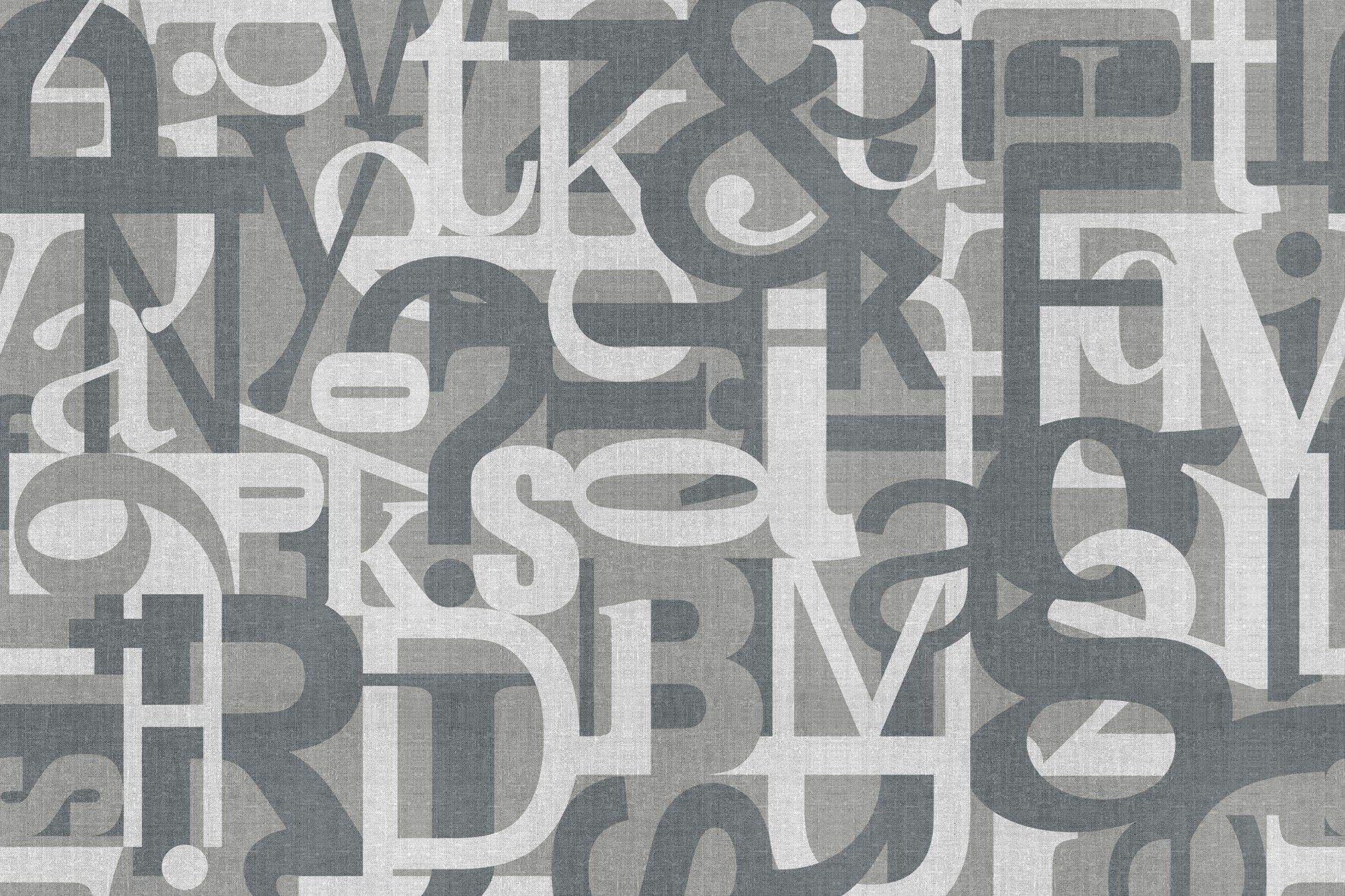 Carta da parati in vinile con scritte type set by glamora for Carta parati vinile