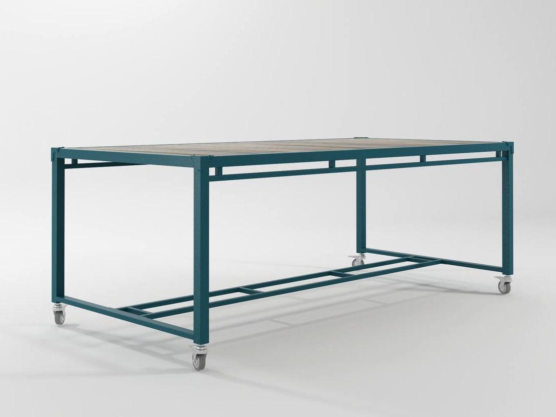 Ak 14 tavolo con ruote by karpenter design karpenter - Tavolo con ruote ...