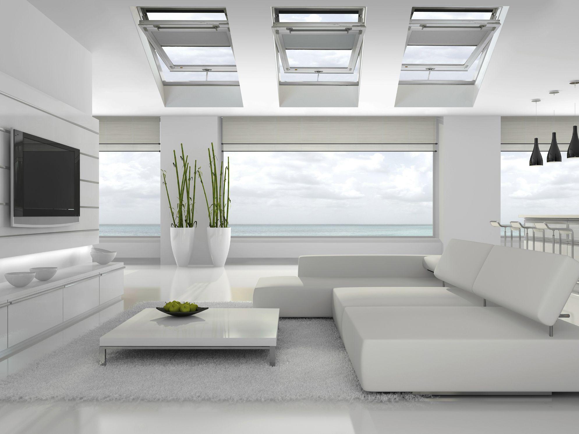 Finestra da tetto a bilico in legno lamellare style plus by claus - Finestra a bilico ...