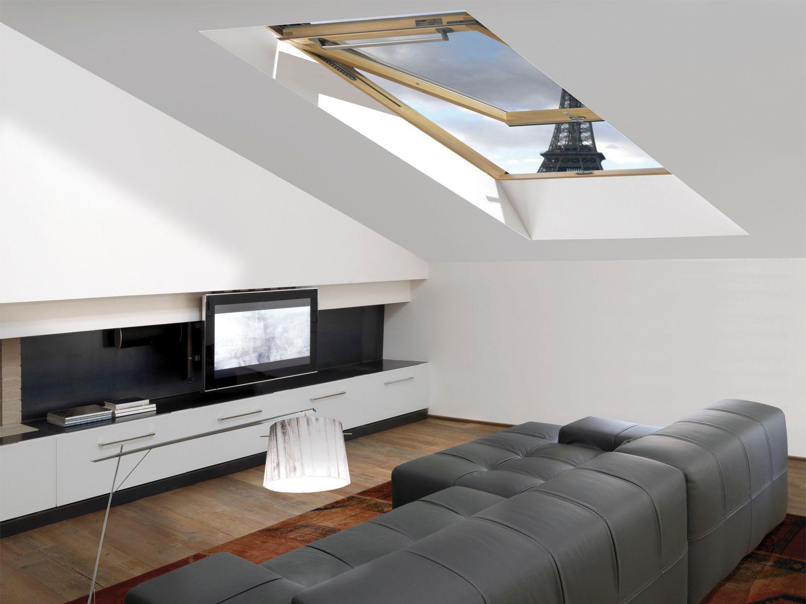 Finestra da tetto con doppia apertura a bilico e vasistas - Finestra vasistas meccanismo ...