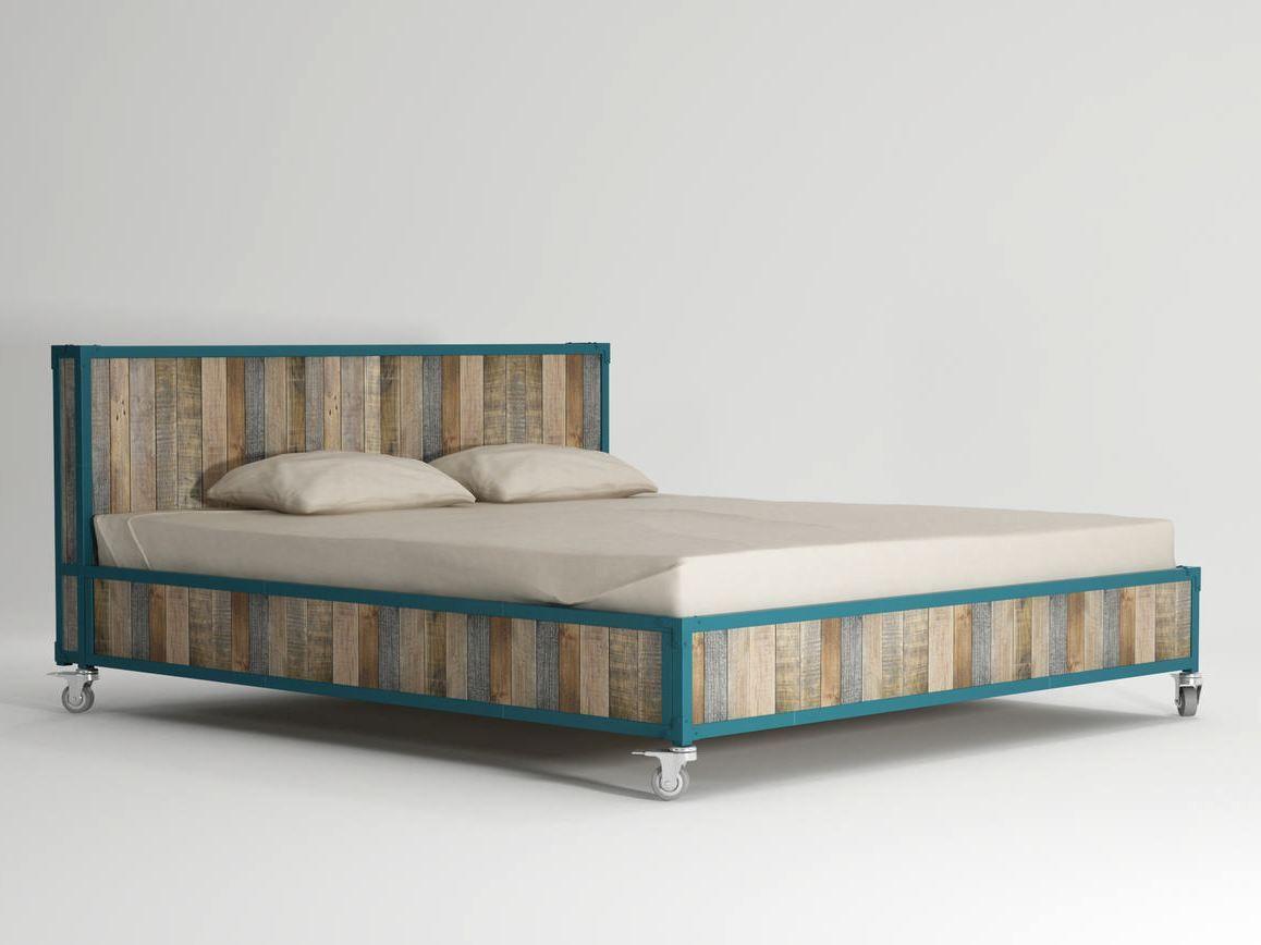 Cama king size de madeira com rodízios AK  14 Cama king size  #204E59 1158x868