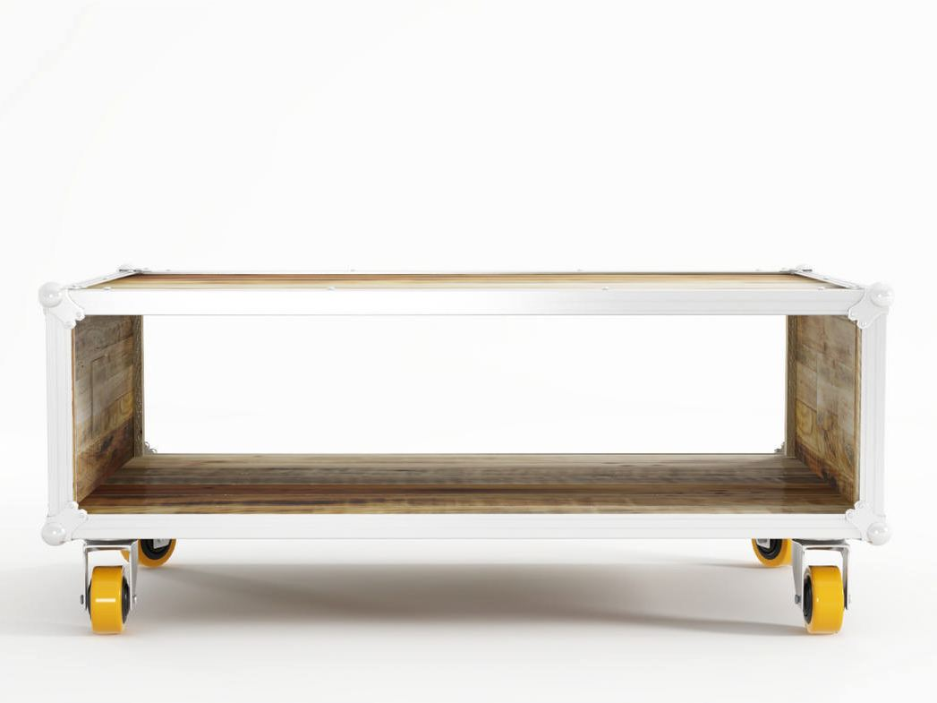 ROADIE Coffee table with casters By KARPENTER design Hugues Revuelta