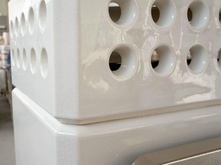 Stufa a legna in ceramica ministack by la castellamonte stufe design adriano design - Stufa a legna in ceramica ...