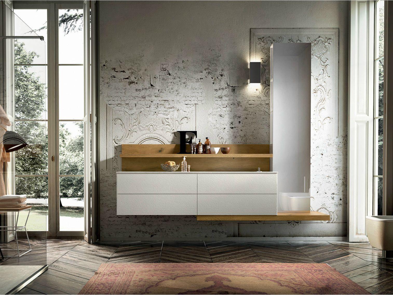 Mobile lavabo sospeso con specchio enea 315 by edon by agor group - Agora mobili bagno ...
