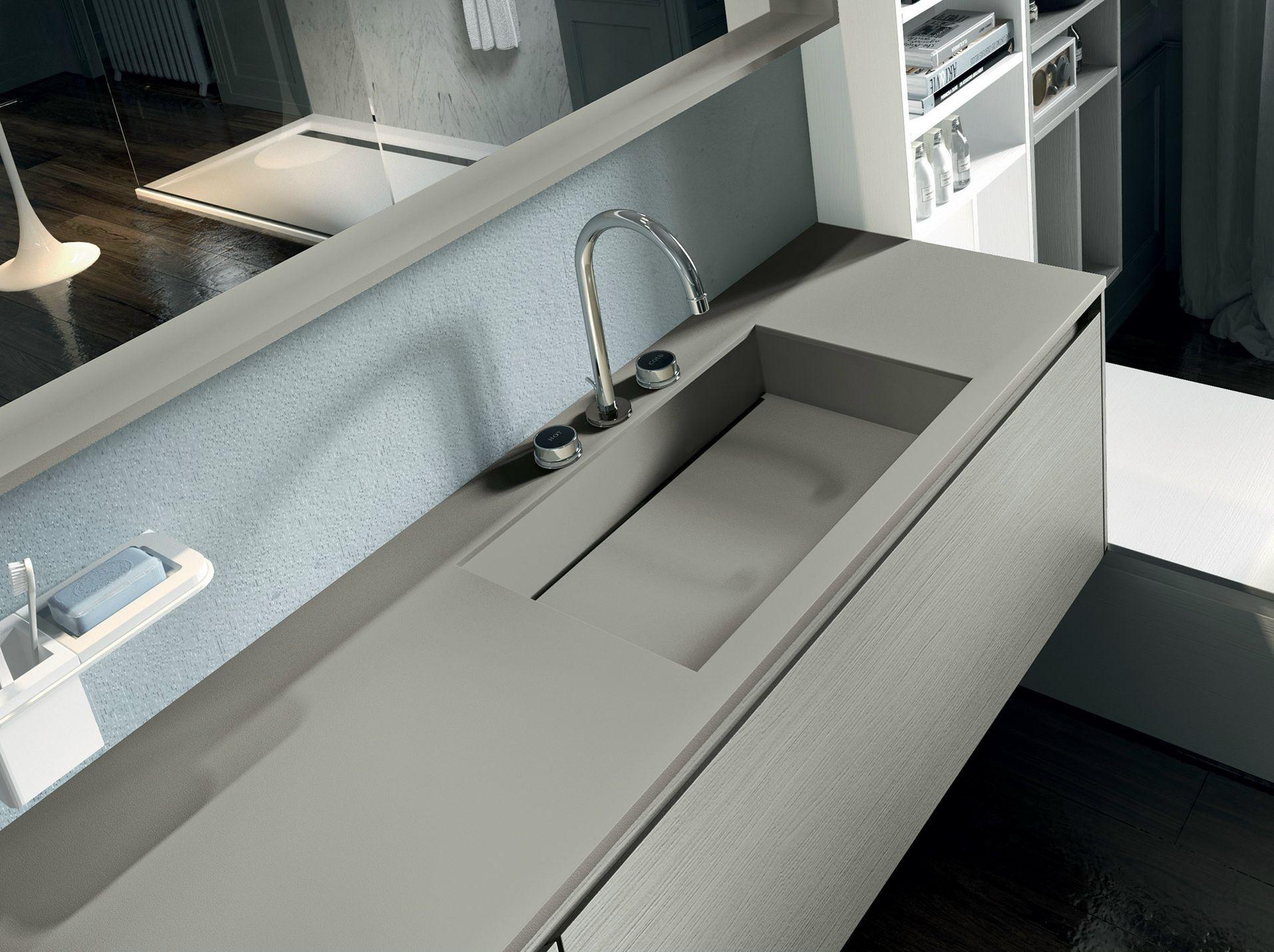 Mobile lavabo laccato sospeso con specchio eos 333 by edon by agor group - Agora mobili bagno ...