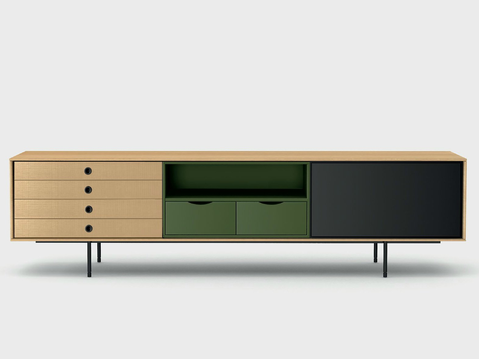 Buffet en bois de style contemporain aura c8 2 by treku design angel mart e - Buffet contemporain design ...