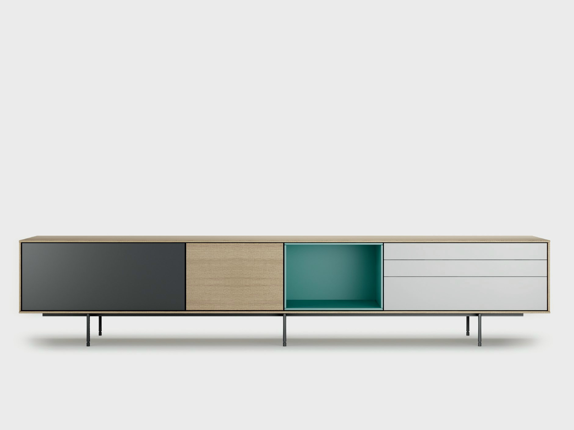 contemporary style wooden sideboard aura c9 2 by treku. Black Bedroom Furniture Sets. Home Design Ideas