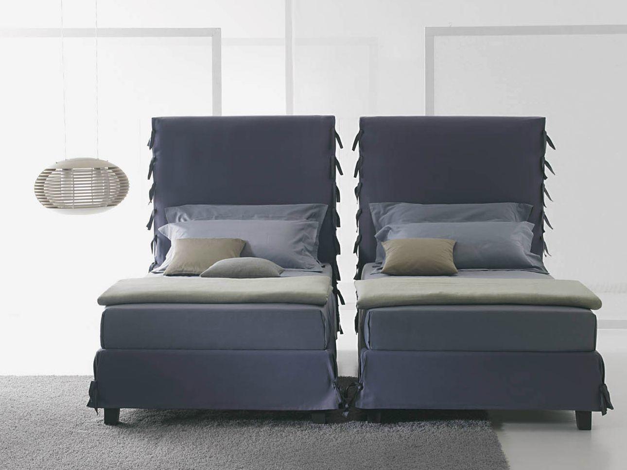 White letto con testiera alta by orizzonti italia - Testiera letto singolo ...