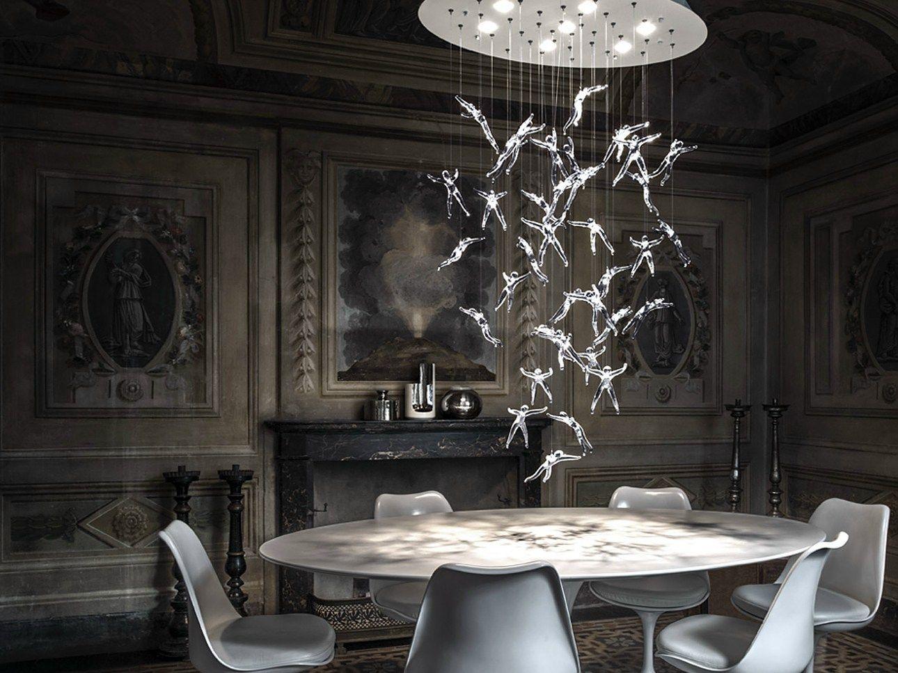 lustre halog ne en cristal angel falls by terzani design nigel coates. Black Bedroom Furniture Sets. Home Design Ideas