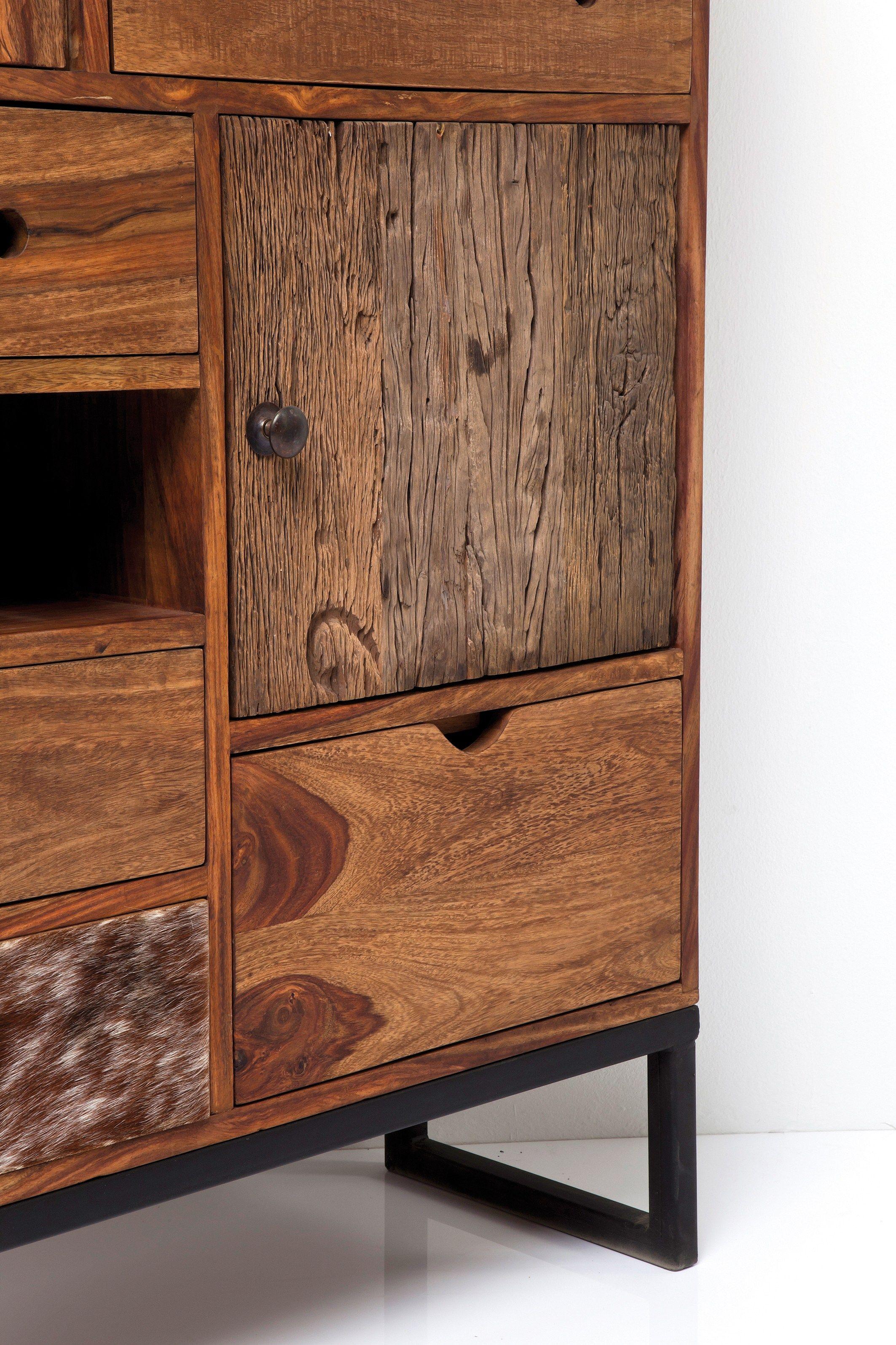 Credenza in legno massello con ante a battente collezione for Mobili kare design
