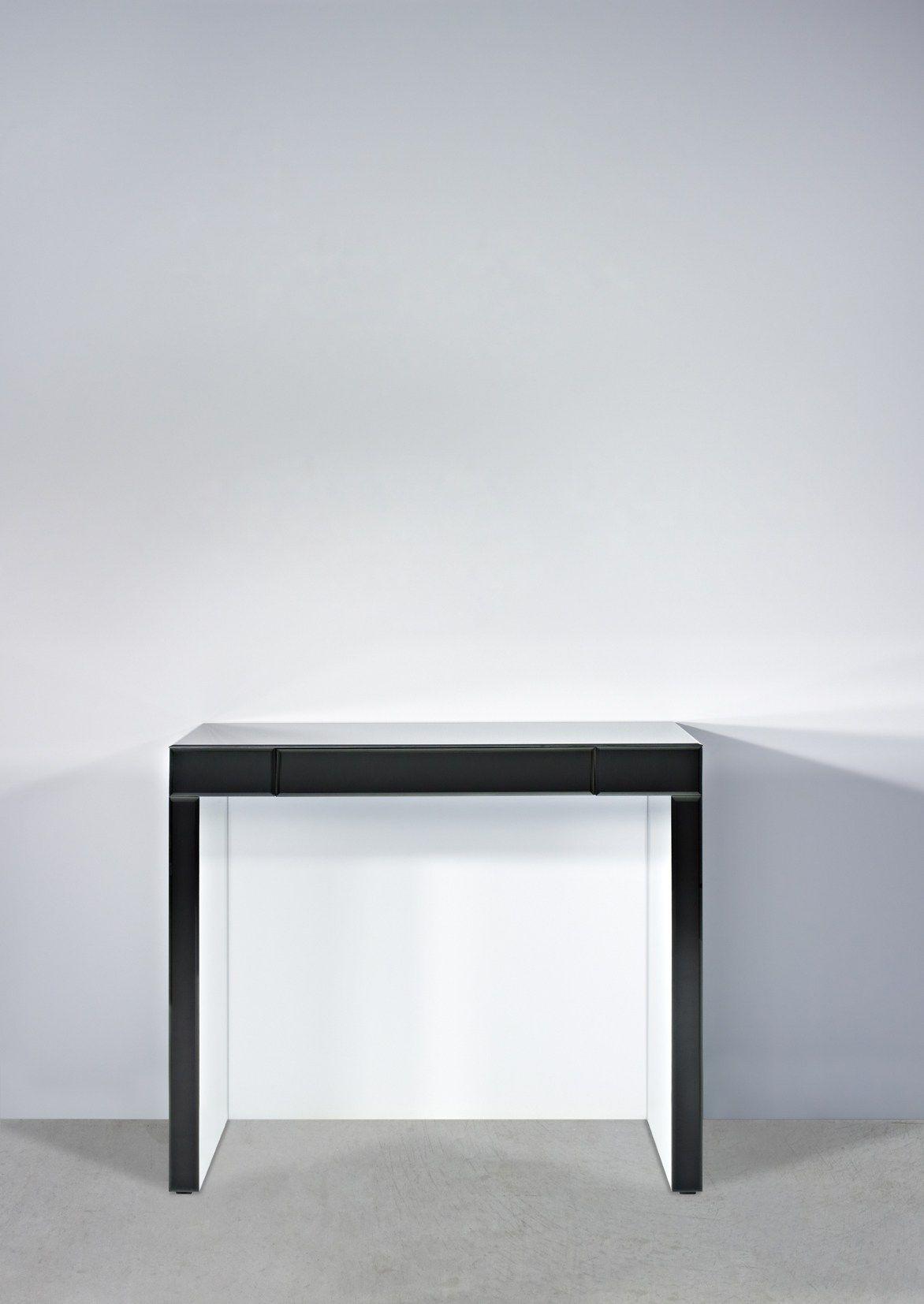 Consolle rettangolare in vetro in stile moderno con for Consolle con cassetti