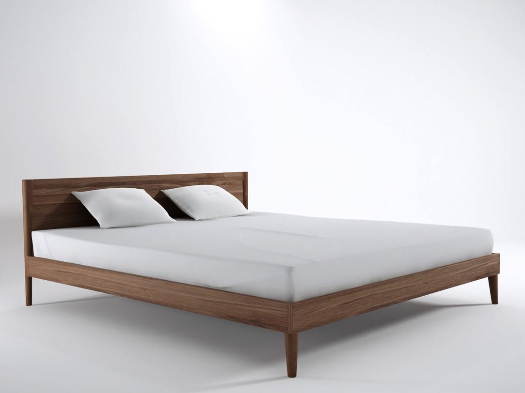 Vintage king size bed by karpenter design hugues revuelta for Colchon mas grande que king size