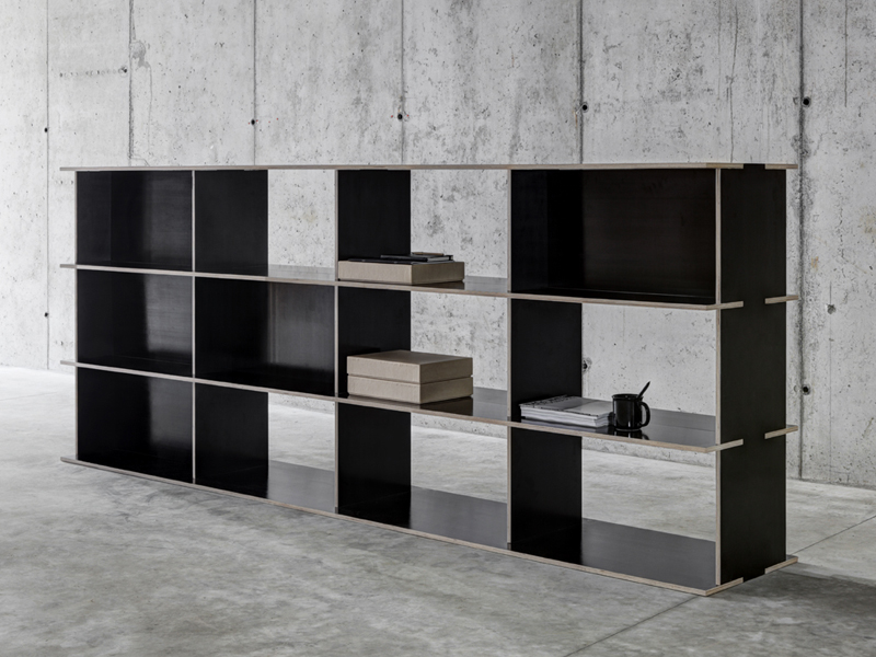 double sided modular bookcase j m b 4 3 2 by fioroni. Black Bedroom Furniture Sets. Home Design Ideas