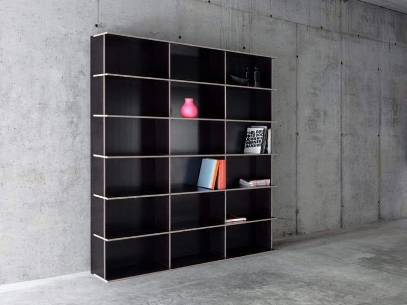 modular multi layer wood bookcase j m b 3 6 by fioroni. Black Bedroom Furniture Sets. Home Design Ideas