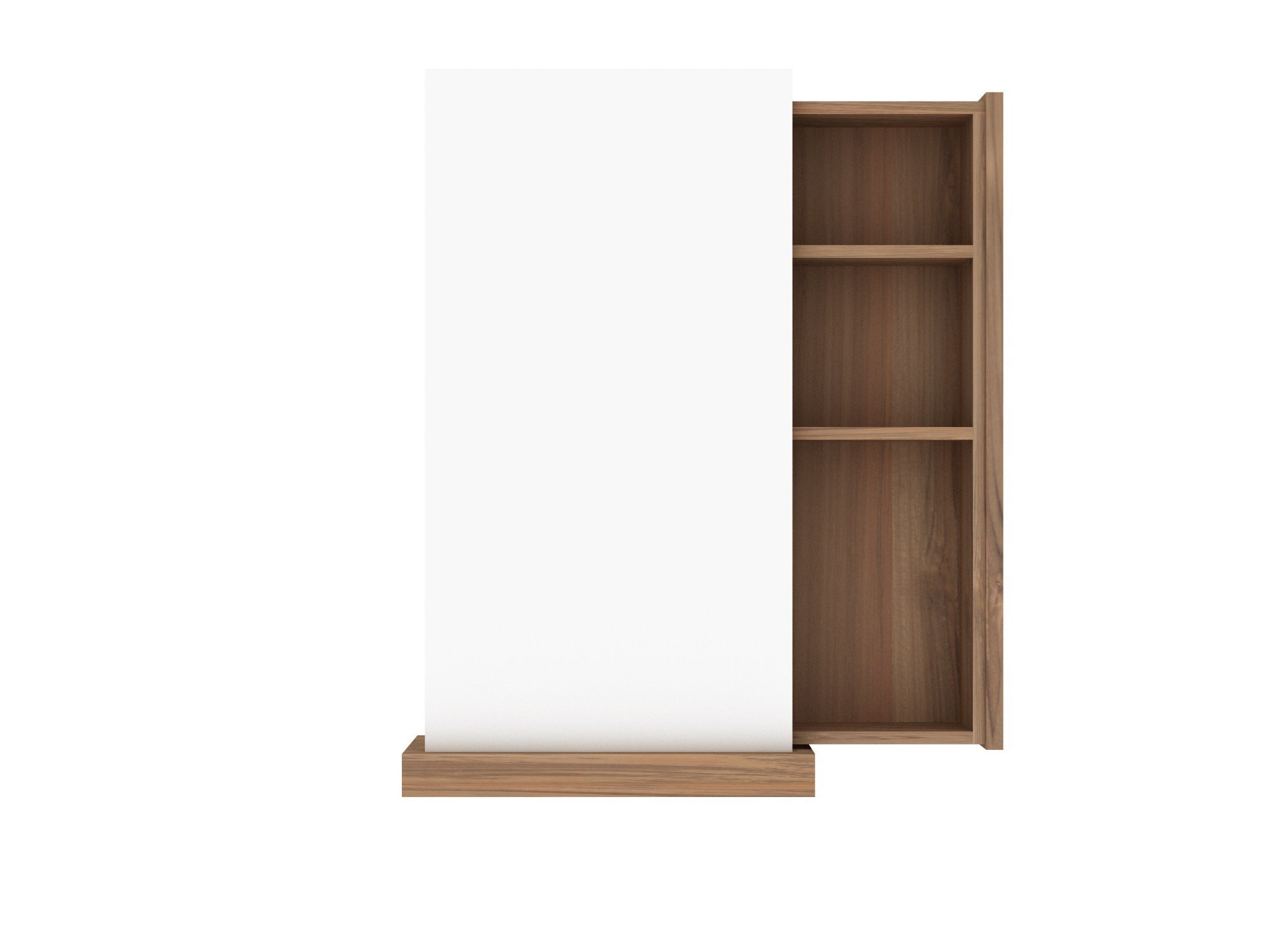 Teak square miroir by ethnicraft for Colle pour miroir mural