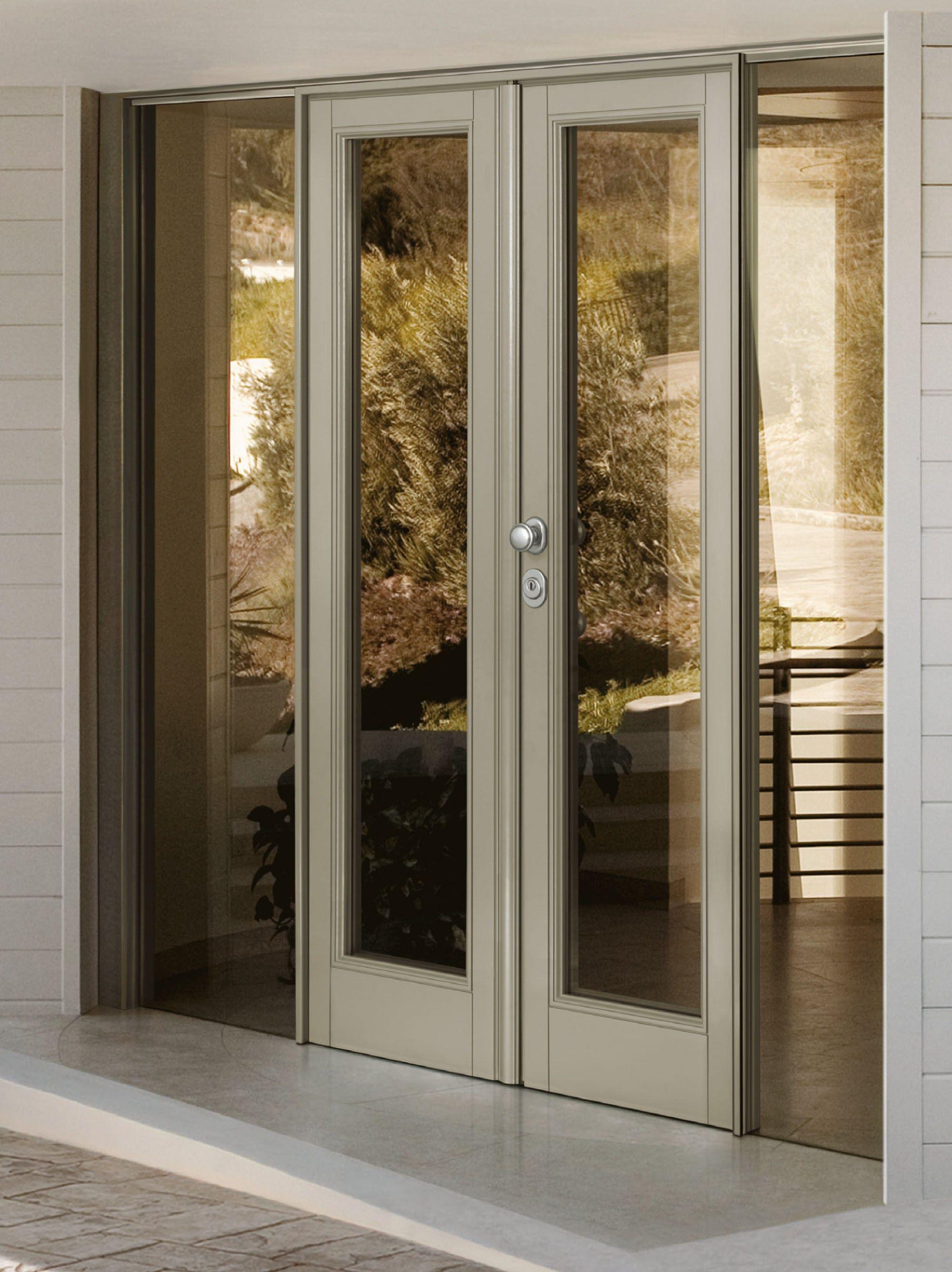 двери металлические остекл