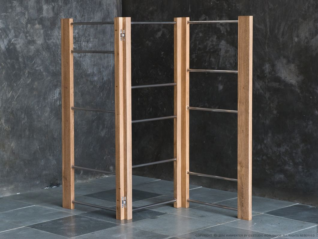 Towel racks porte serviettes en bois by karpenter design for Porte serviette sur pied en bois