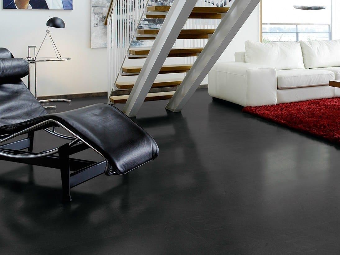 rev tement de sol en stratifi effet pierre ardoise gris moyen by pergo. Black Bedroom Furniture Sets. Home Design Ideas