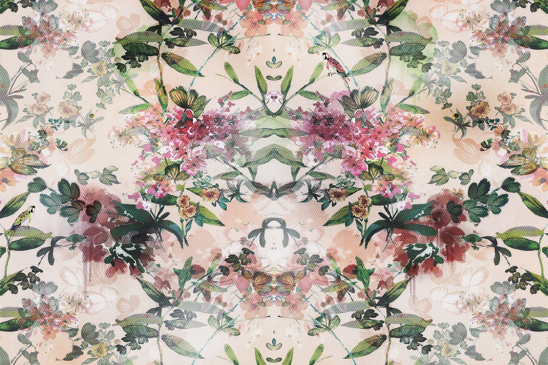 Vinyl Wallpaper With Floral Pattern Kusa By Glamora