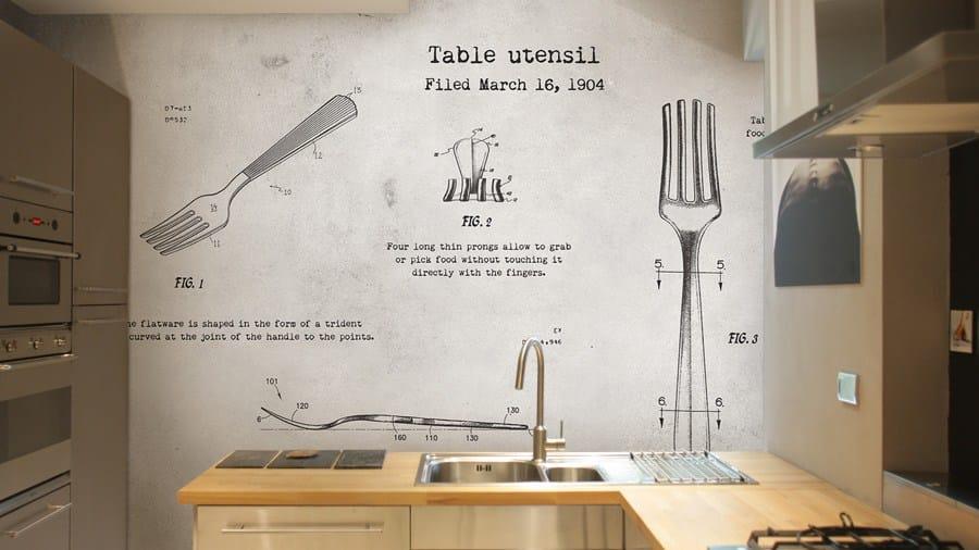 Carta da parati in vinile by glamora - Carta da parati cucina ...