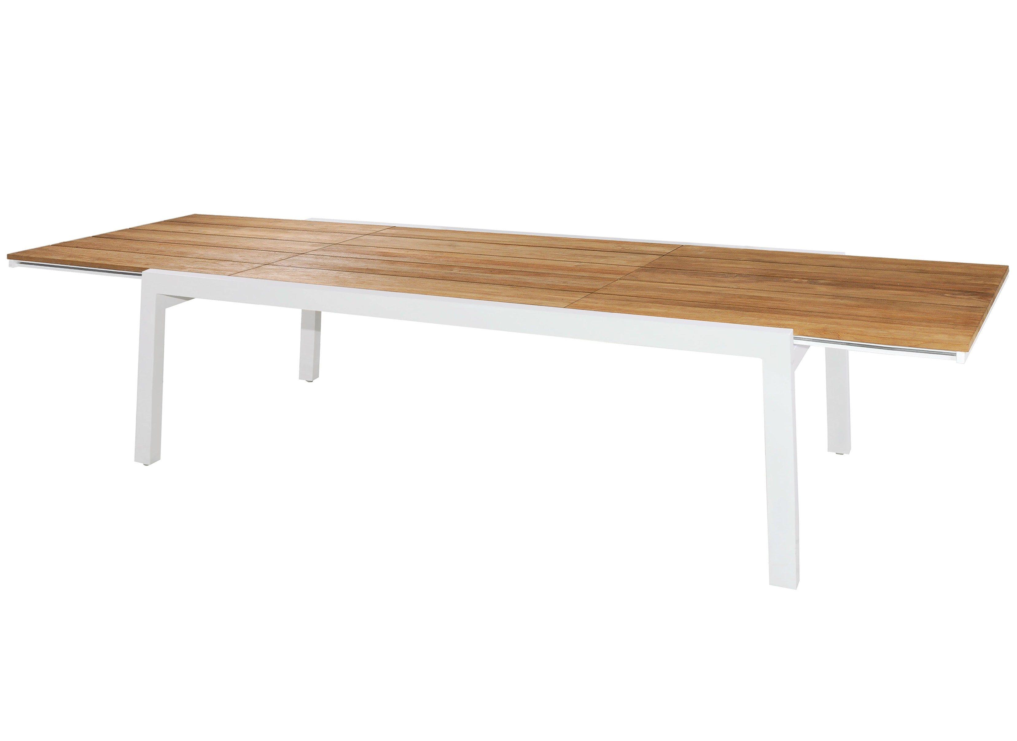 table extensible de jardin en aluminium et bois baia. Black Bedroom Furniture Sets. Home Design Ideas