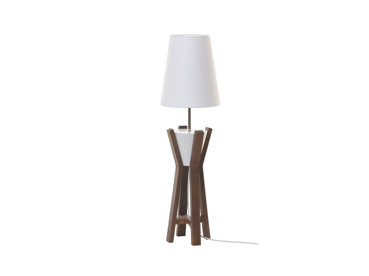 wooden table lamp brasero by flam luce luminaires design cyril gorin. Black Bedroom Furniture Sets. Home Design Ideas