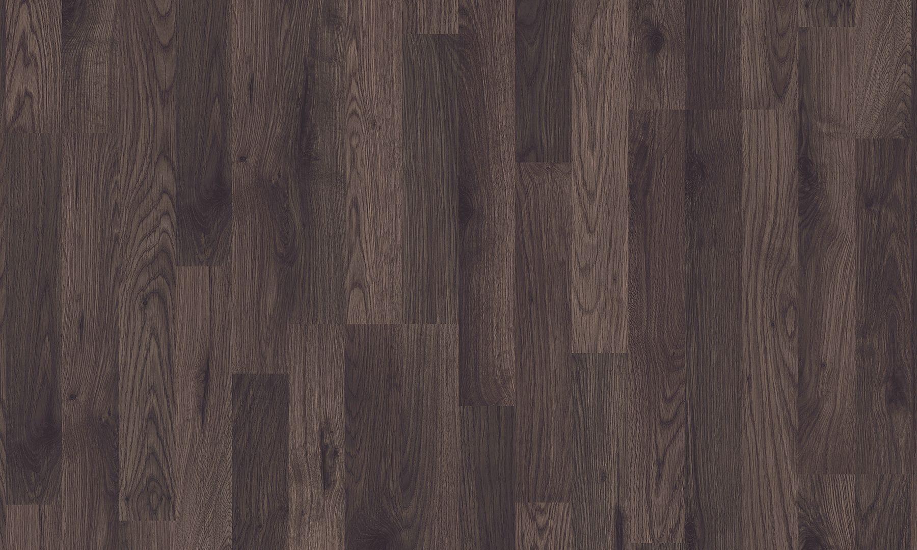 Laminate Flooring With Wood Effect Dark Brown Oak 3 Strip