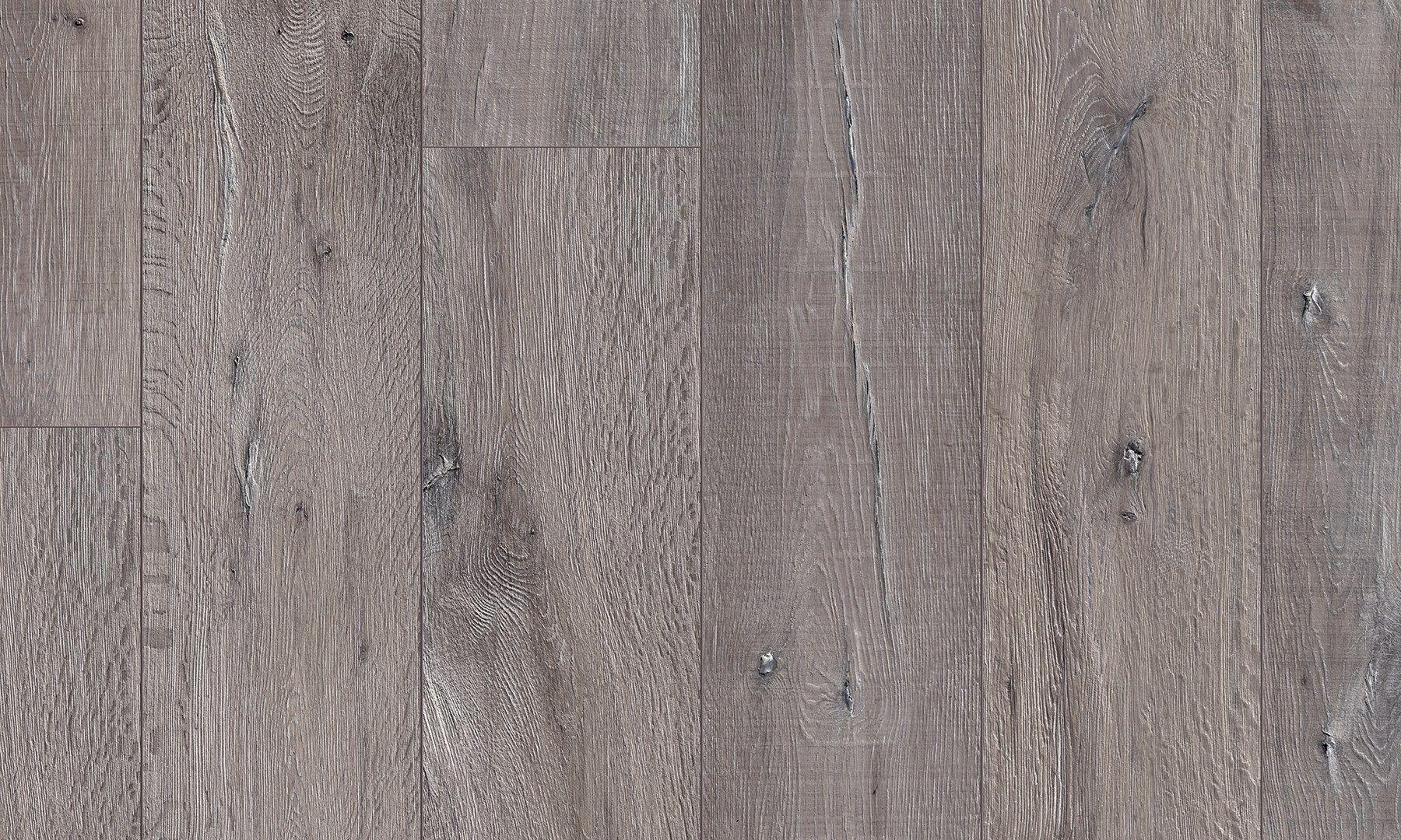 Bodenbelag aus laminat mit holz effekt eiche grau for Gray pergo flooring