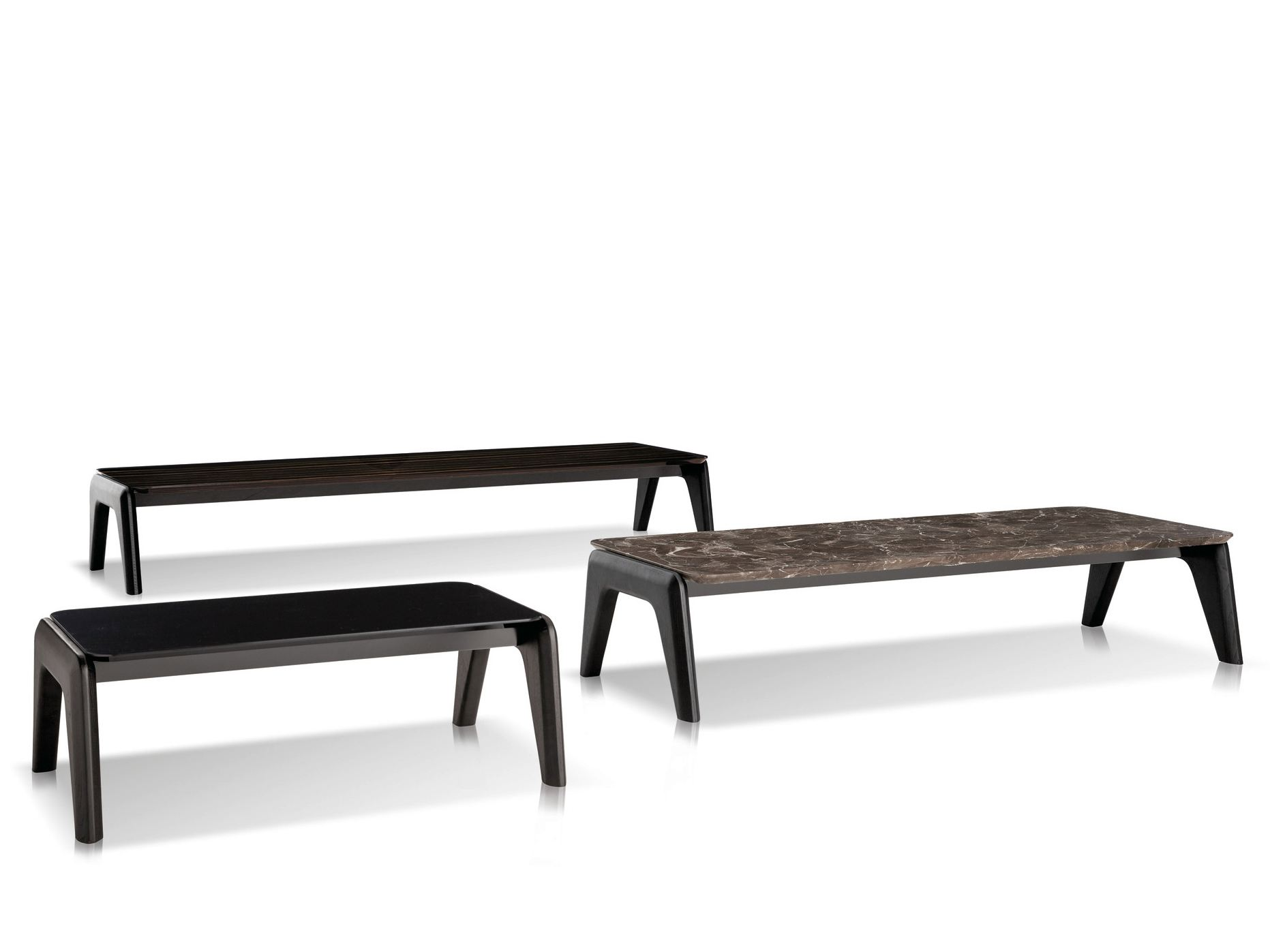 Low Rectangular Coffee Table Kirk Wood Kirk Collection By Minotti Design Rodolfo Dordoni