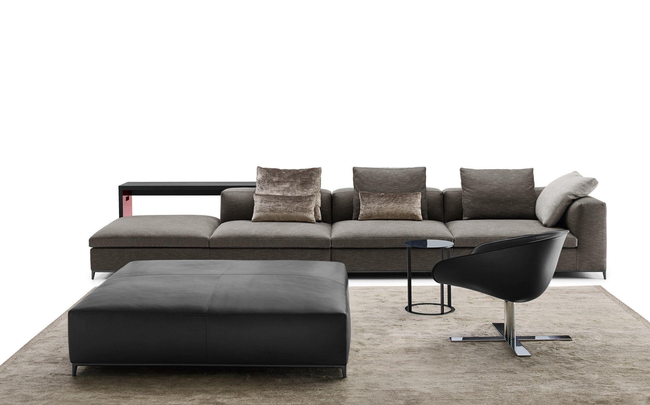 Corner sectional fabric sofa MICHEL CLUB by B&B Italia