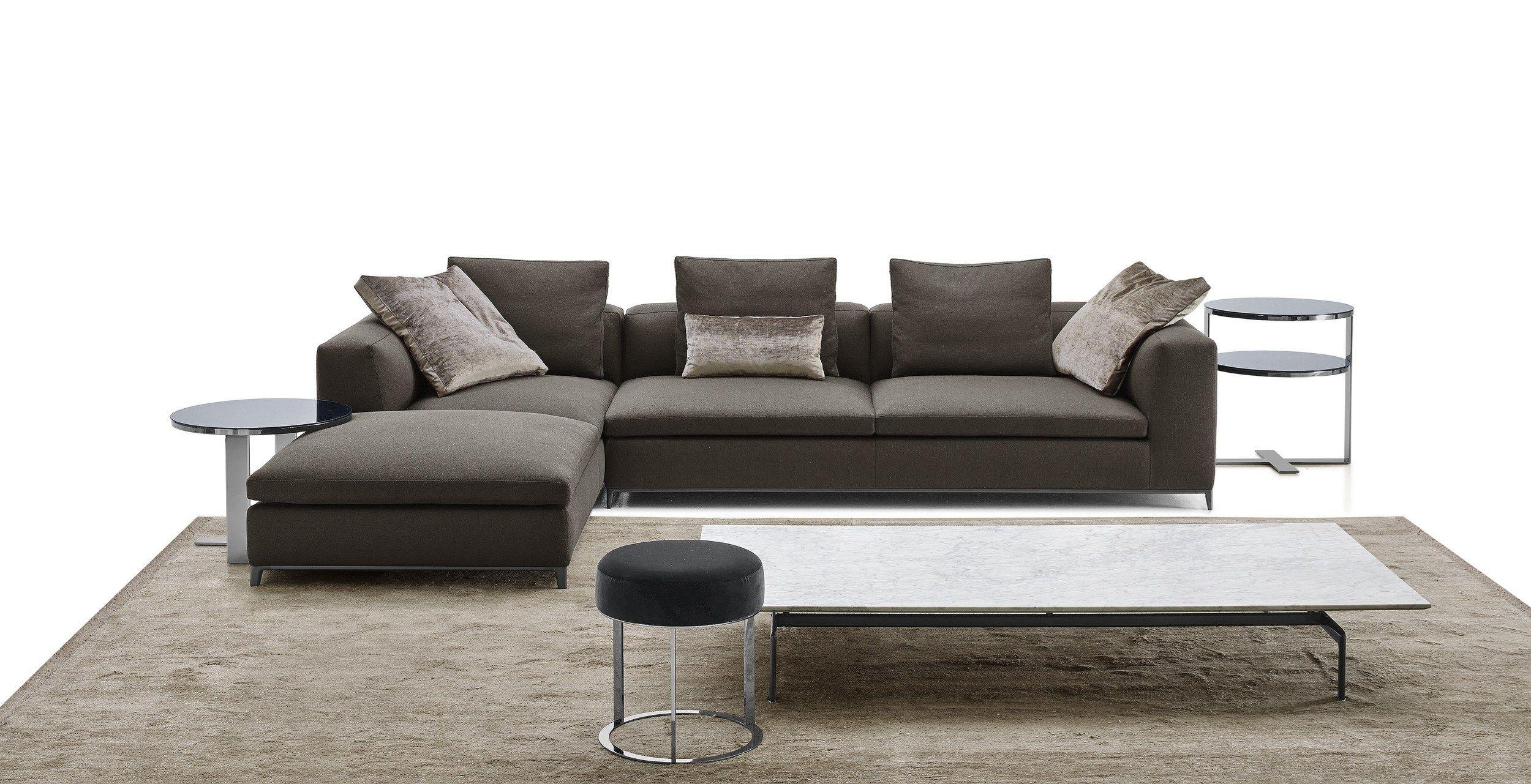 Divano angolare componibile in tessuto michel club by b b - Prodotti per pulire il divano in tessuto ...