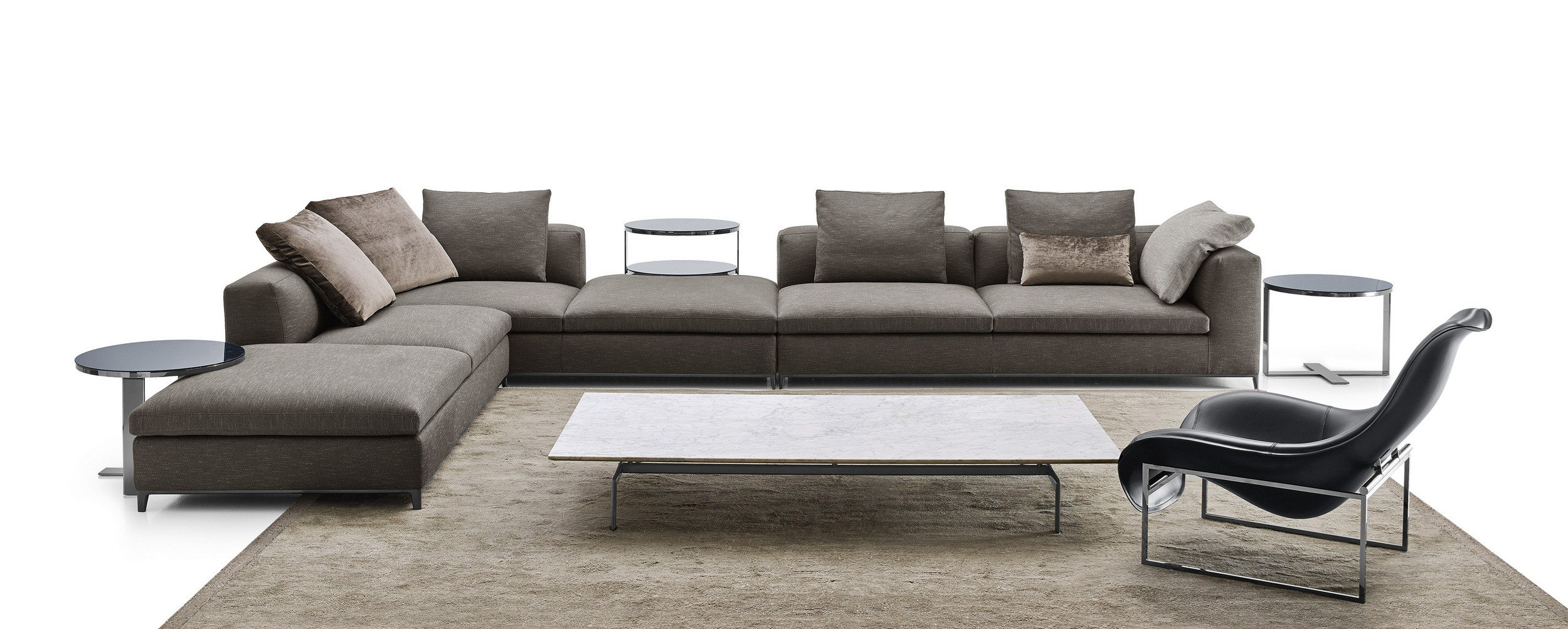 corner sectional fabric sofa michel club by b b italia. Black Bedroom Furniture Sets. Home Design Ideas
