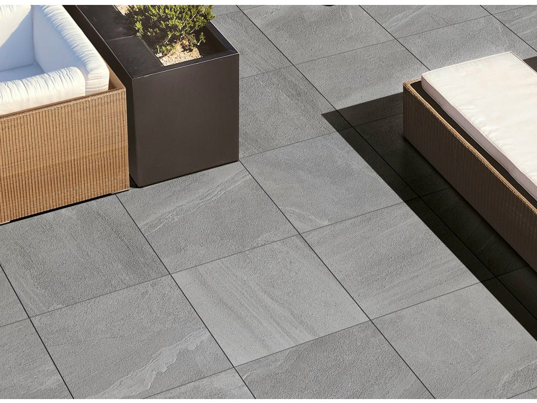 Carrelage ext rieur effet pierre lake stone t20 by for Ceramiche supergres lake stone