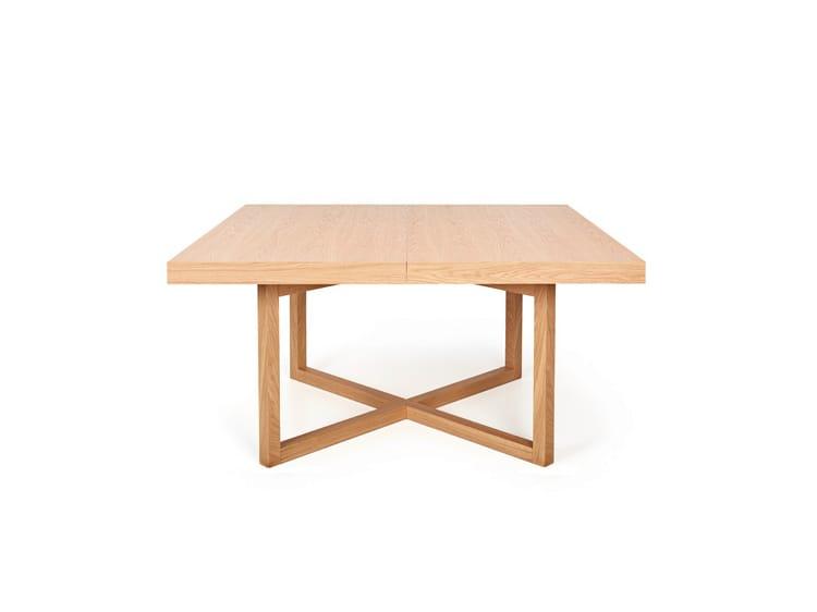 Mesa extensible de comedor cuadrada de madera geo - Mesa comedor cuadrada extensible ...