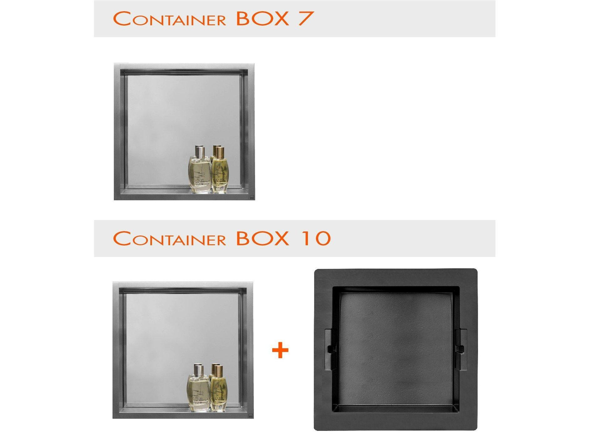 Estantes Para Baños Acero Inoxidable:Estante para cuarto de baños de acero inoxidable CONTAINER BOX NICHO