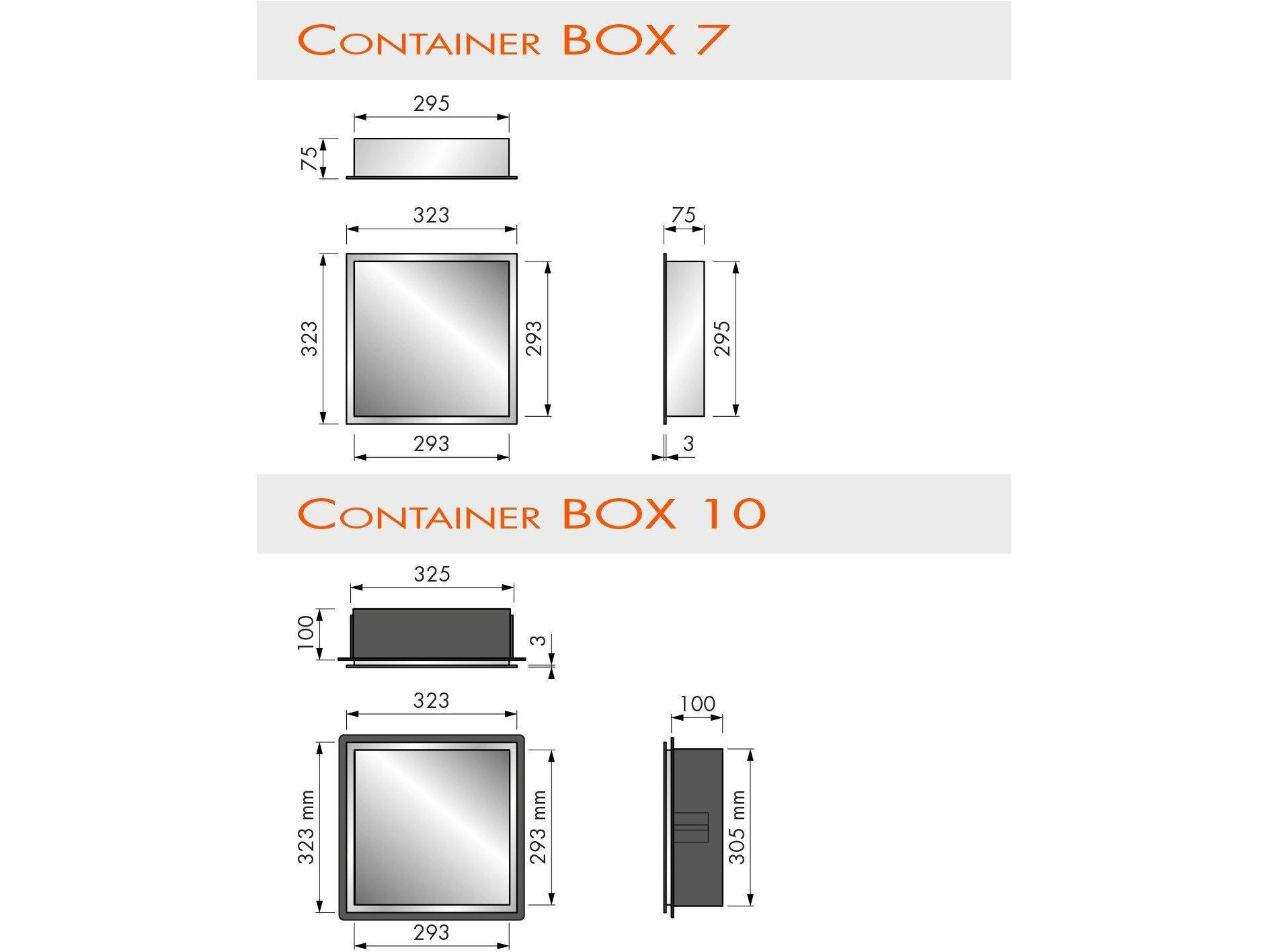 wandregal für badezimmer aus edelstahl container box wandnische, Badezimmer