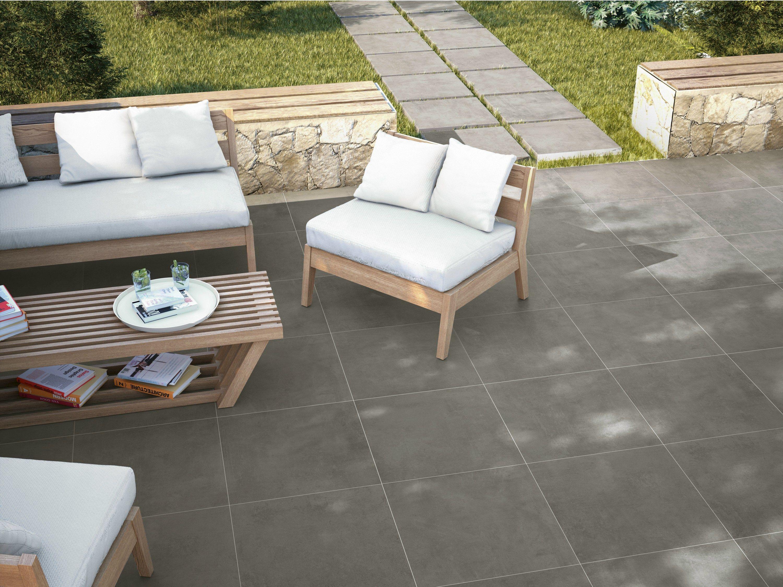 Pavimento in gres porcellanato effetto cemento per interni - Suelos para patios exteriores ...