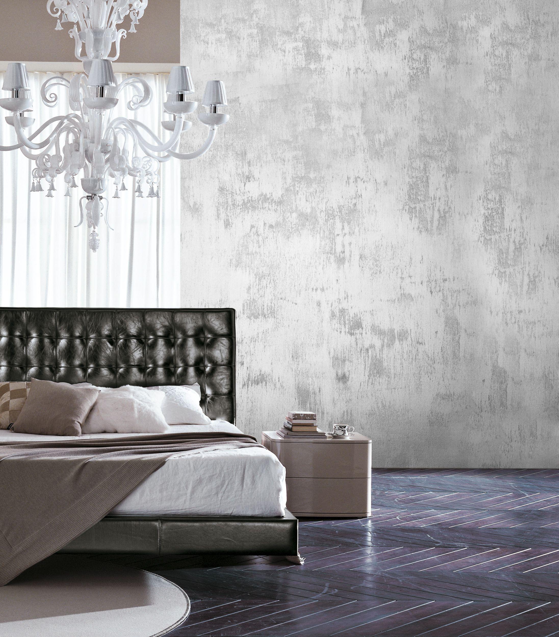 Finitura decorativa per interno effetto metallo grezzo for Metallic paint ideas for walls