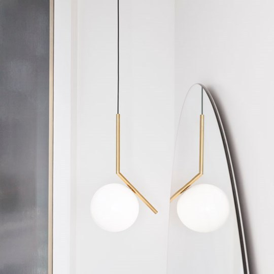 Lampada A Sospensione In Ottone IC LIGHTS S1 By FLOS