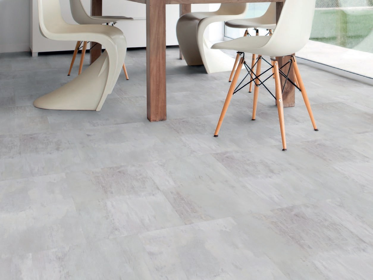 Virtuo adjust flooring with concrete effect by gerflor for Parquet pvc gerflor
