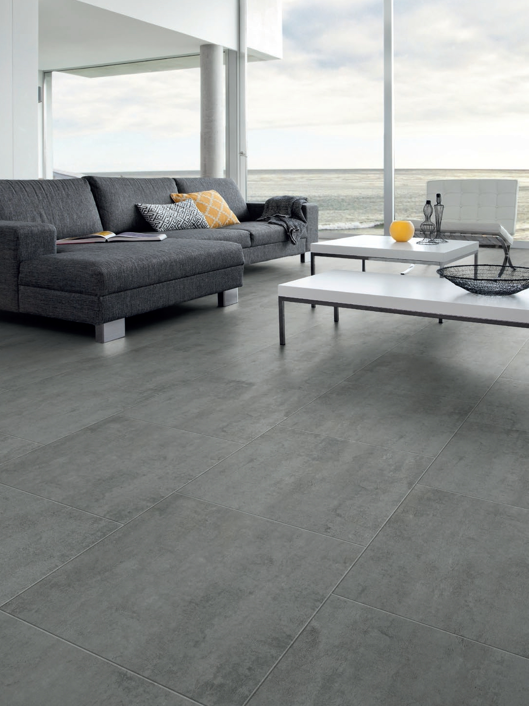 Virtuo classic 30 flooring with concrete effect by gerflor for Parquet pvc gerflor