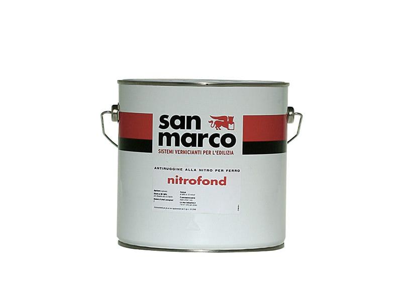 Antiruggine alla nitro per ferro nitrofond by colorificio for San marco vernici