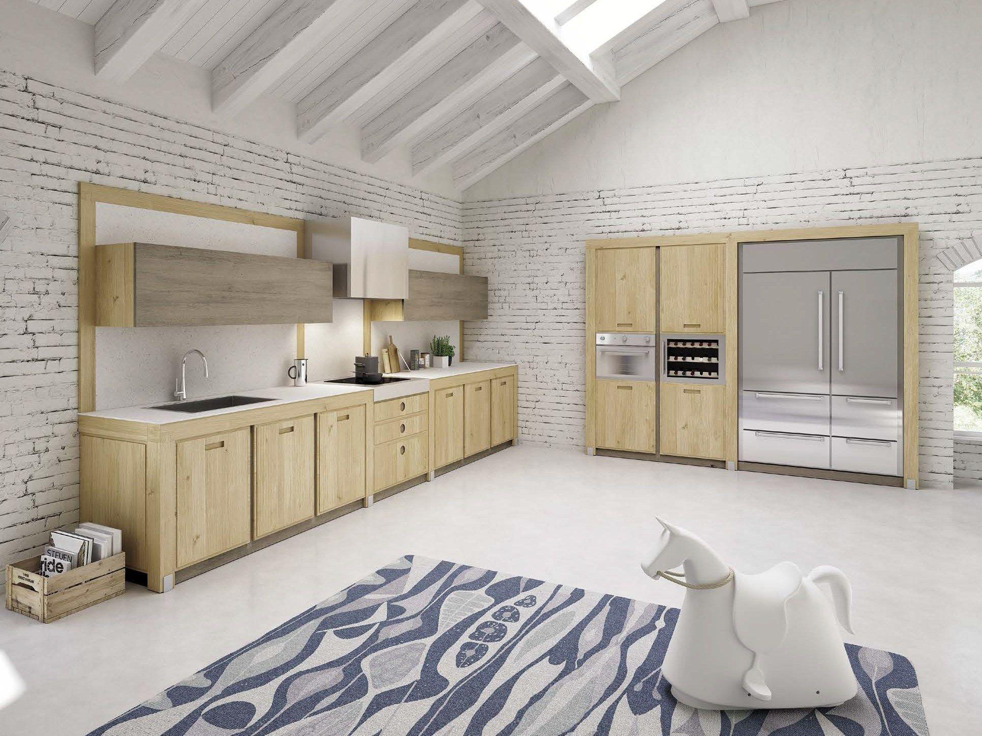 Cuisine lin aire en ch ne roverissima by domus arte design for Cuisine lineaire 4 metres