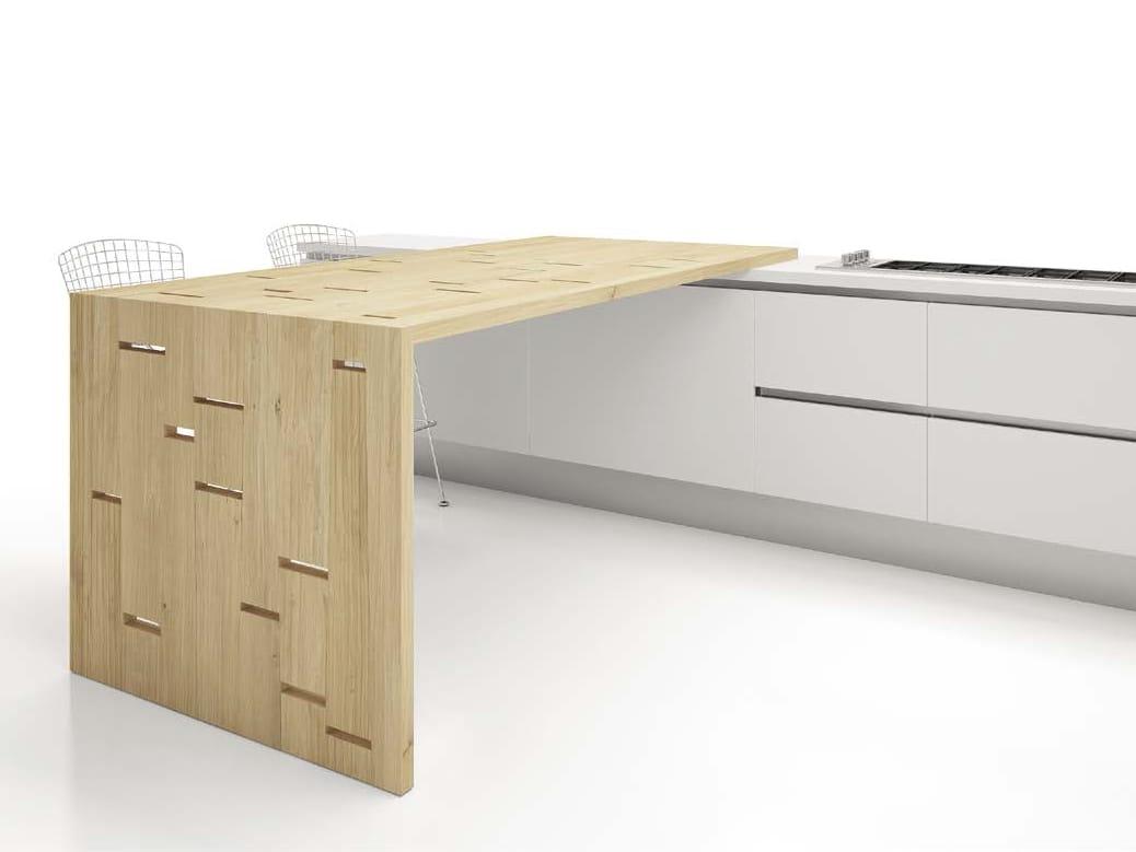 tavolo a penisola alto da cucina luce by domus arte design enrico ... - Tavoli Alti Cucina