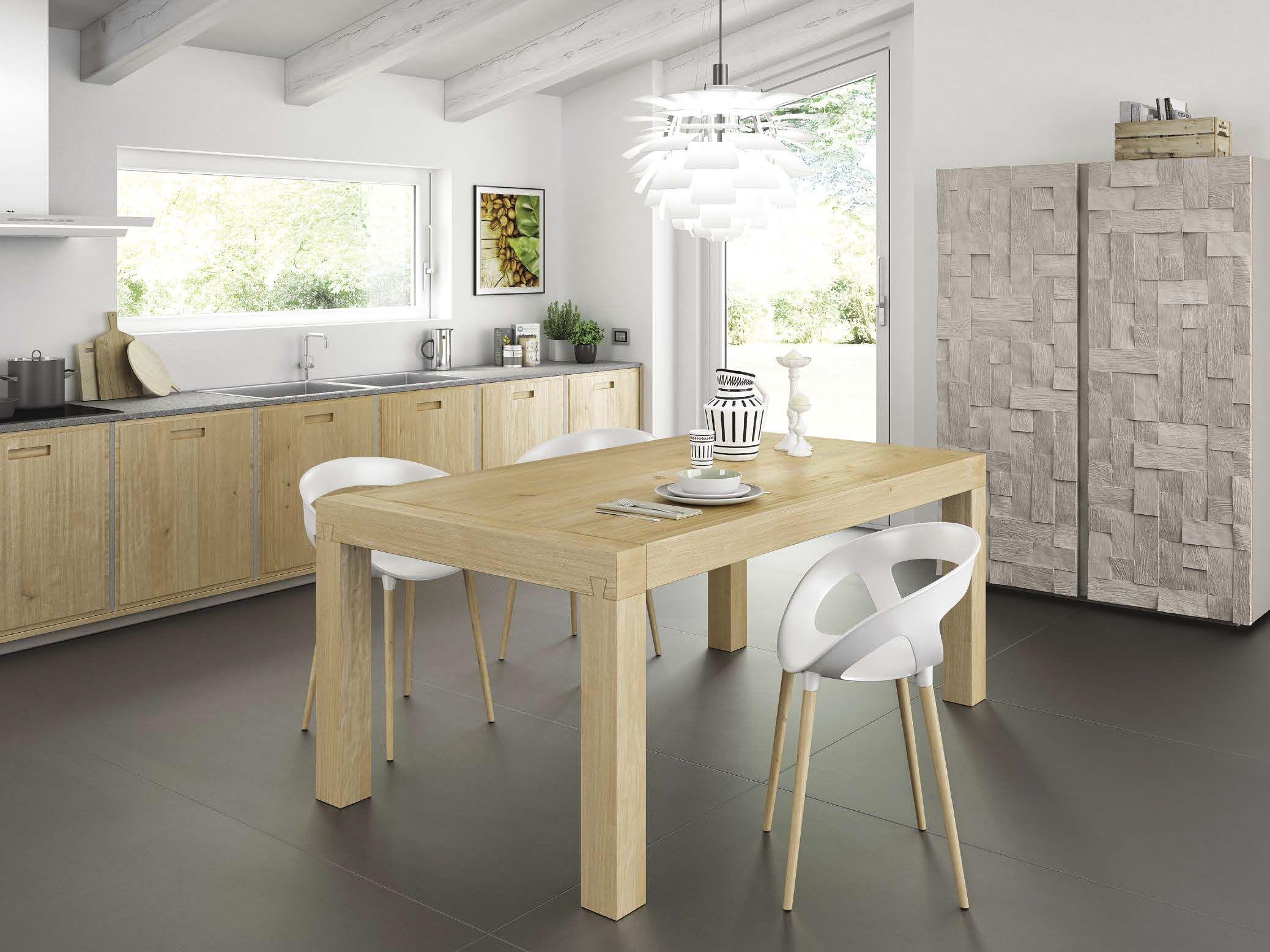 Tavolo allungabile da pranzo in rovere terra by domus arte design ...